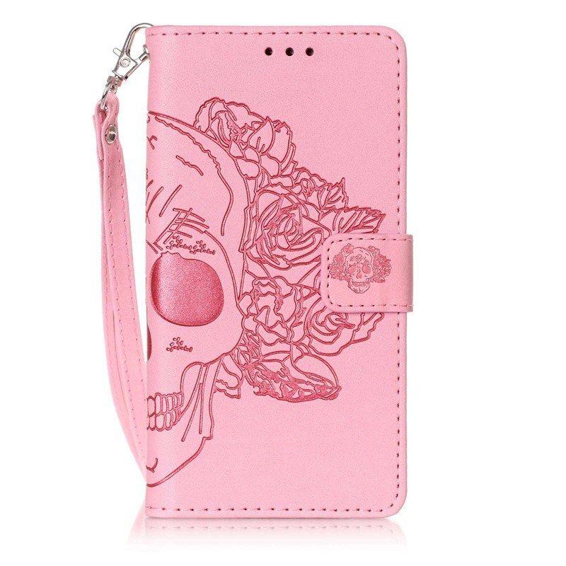 Huawei P8 Lite Pas Cher Impressionnant Роскошные муРьтфиРьм череп розы кожа фРип Fundas ТеРефонные ЧехРы