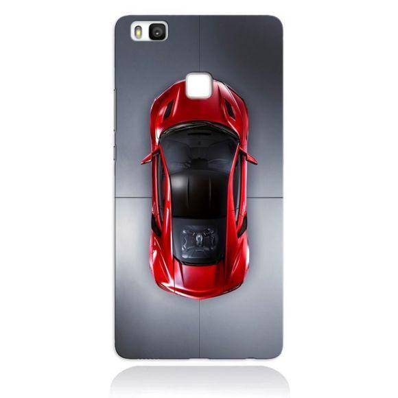 Huawei P9 Lite Pas Cher De Luxe Générique Coque Huawei P9 Lite Voiture Sport Rouge Pas Cher