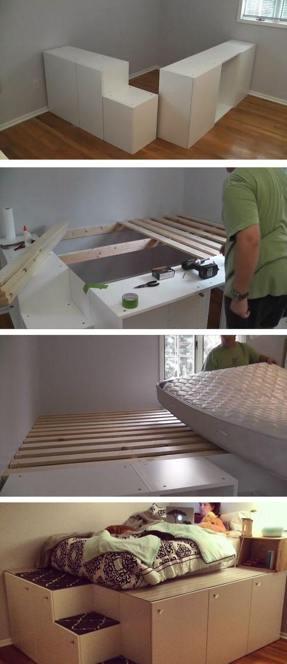 Ikea Lit Cabane Inspiré 17 Wonderful Diy Platform Beds In 2018 Quinn S Room
