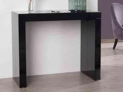 Ikea Lit Extensible Élégant Console Cuisine Luxe Table Laqu Blanc Fly Bureau Console Extensible