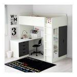 Ikea Stuva Lit Douce Ikea Stuva Loft Bed with 4 Drawers 2 Doors White Green with