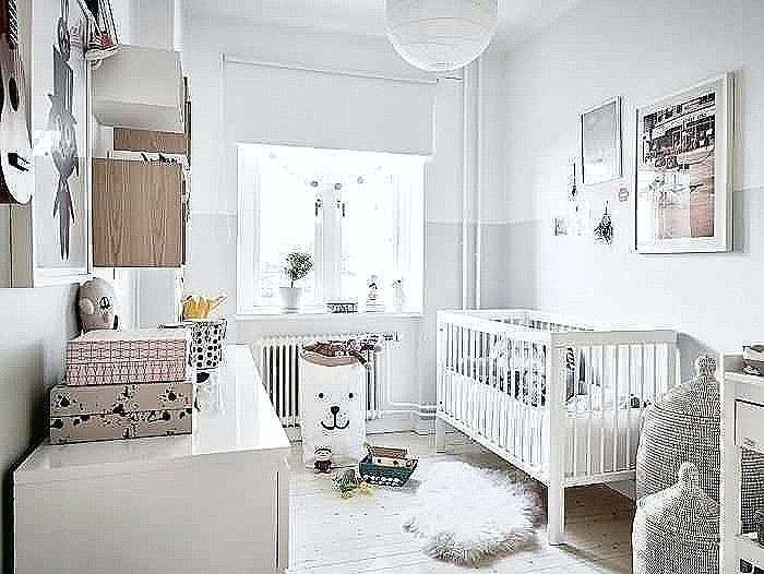 Linge De Lit Blanc Luxe La Peinture Chambre Bacbac 70 Idaces Sympas Babiesa Nursery Peinture
