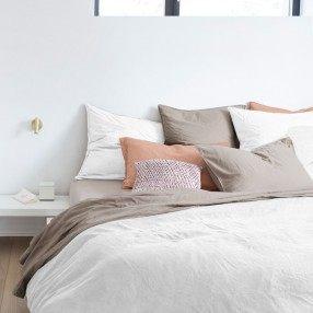 Linge de lit haut de gamme Parures de lit de qualité Olivier