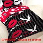 Linge De Lit Carré Blanc Le Luxe Vert Feuilles Housse De Couette 100 Coton Ensembles De Literie Pour