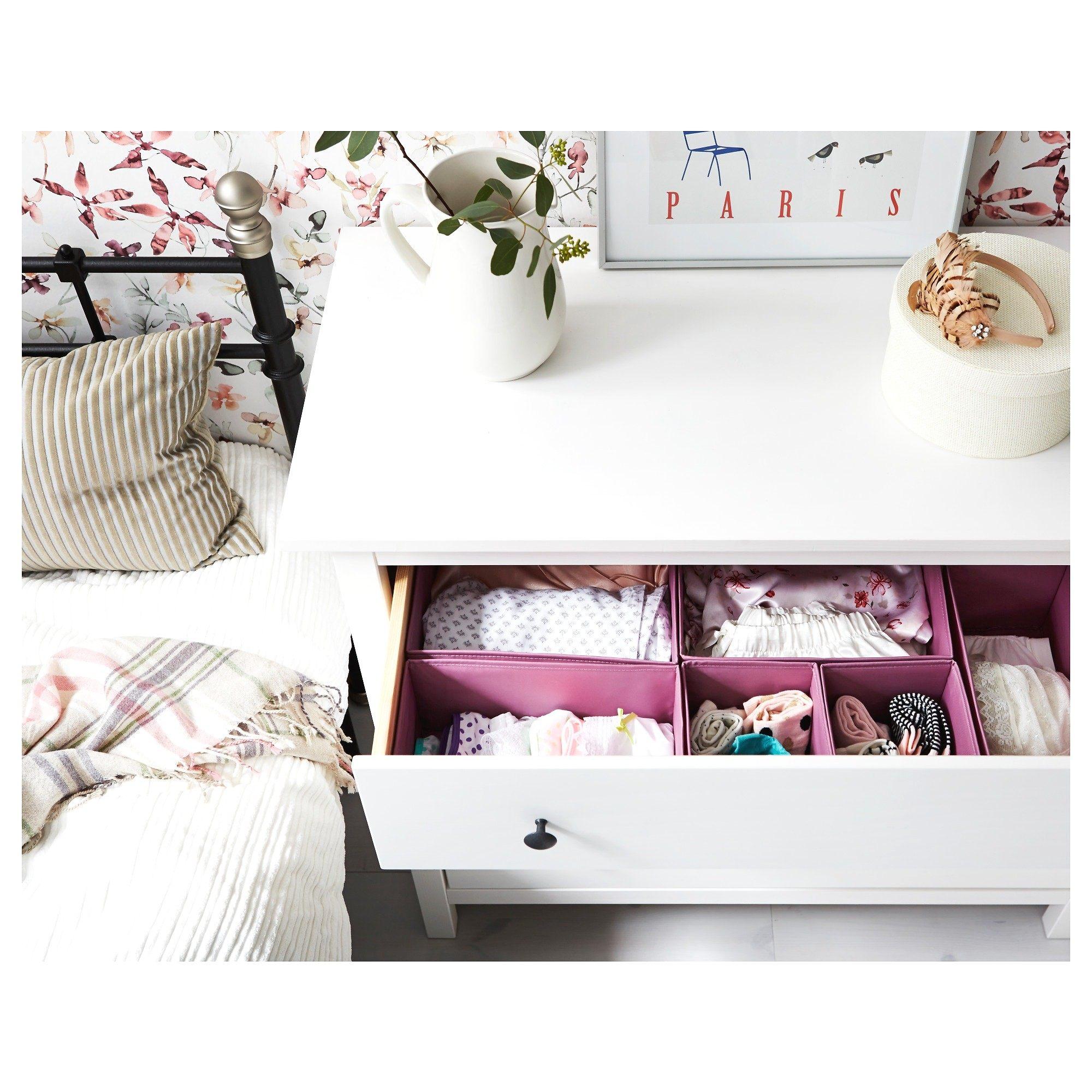 linge de lit en lin lav joli ikea mode hemnes 3 tiroirs. Black Bedroom Furniture Sets. Home Design Ideas