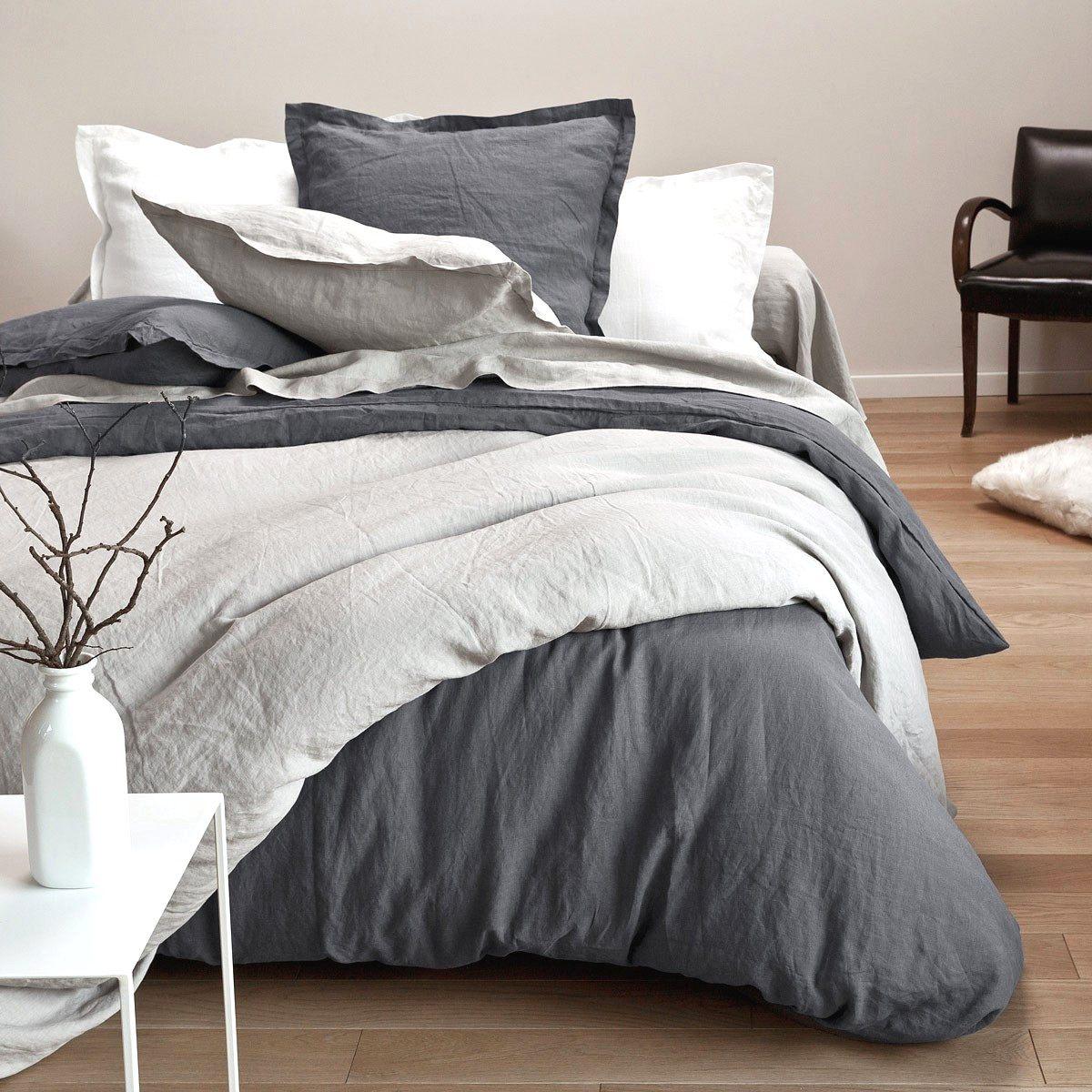 Linge De Lit En Lin Lavé Luxe Ingenious Inspiration Carre Blanc Linge De Maison 44 Avec Valuable