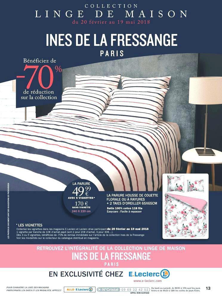 Linge De Lit Ines De La Fressange Le Luxe 76 Etendoir A Linge E Leclerc