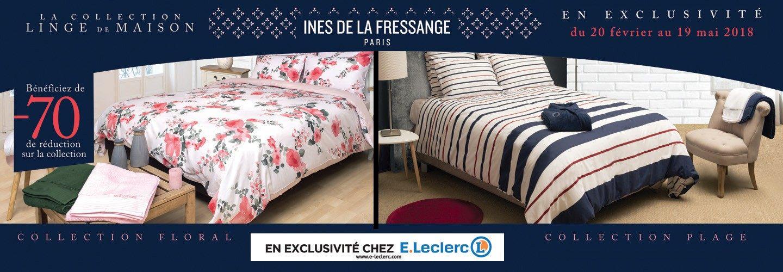 Linge De Lit Ines De La Fressange Luxe Collection Linge De Maison Leclerc