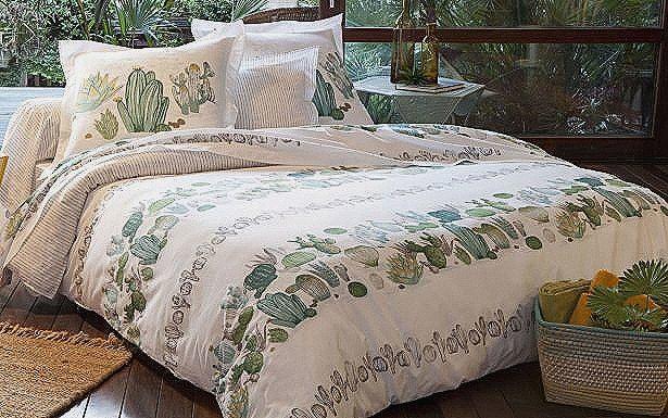 linge de lit leclerc unique linge de maison descamps. Black Bedroom Furniture Sets. Home Design Ideas