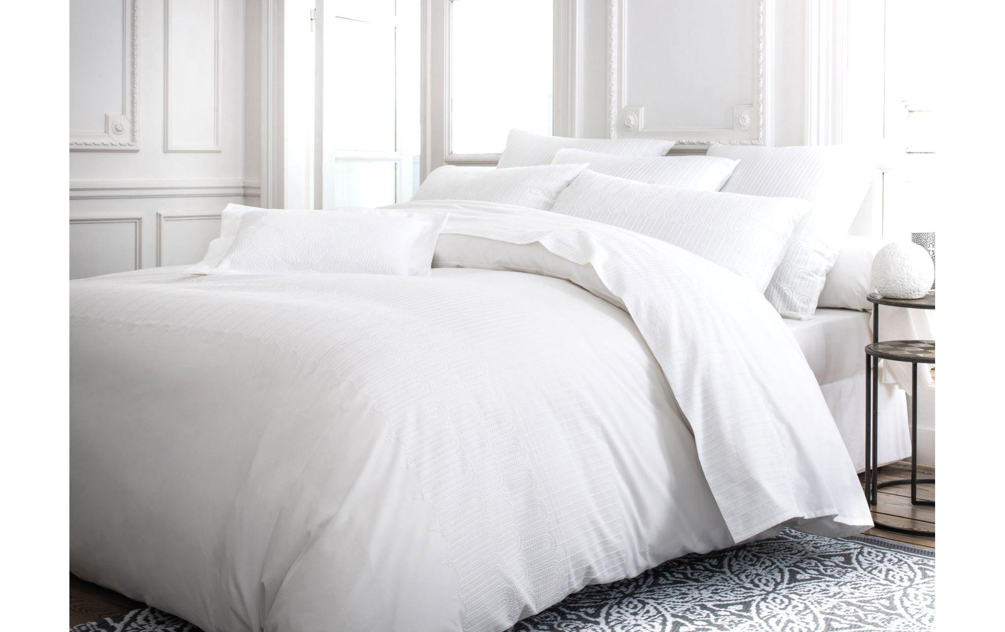 Linge De Lit Lin Lavé Génial Ingenious Inspiration Carre Blanc Linge De Maison 44 Avec Valuable