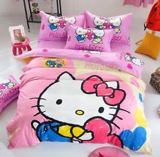 Linge De Lit Today Inspiré Hello Kitty Full Sheets & Pillowcases