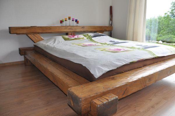 lit unique en poutres vieux bois Home