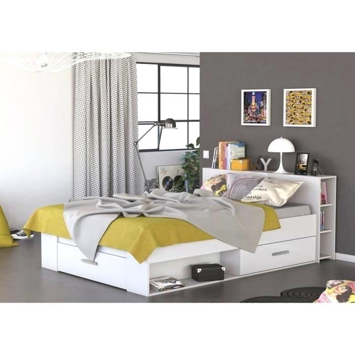 Lit 140×190 Rangement Nouveau Lit 140×190 Avec Tiroir Rangement Pas Cher Blanc Lit Tiroir 140×190