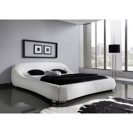 Lit 160×200 Blanc Meilleur De Lit Design Rembourré Blanc Dave 160×200 Cm Achat Vente Structure