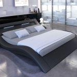 Lit 160x200 Led Inspiré Gorgeous Design Lit Noir 65 Org Avec Charming Ideas Lit Design Noir