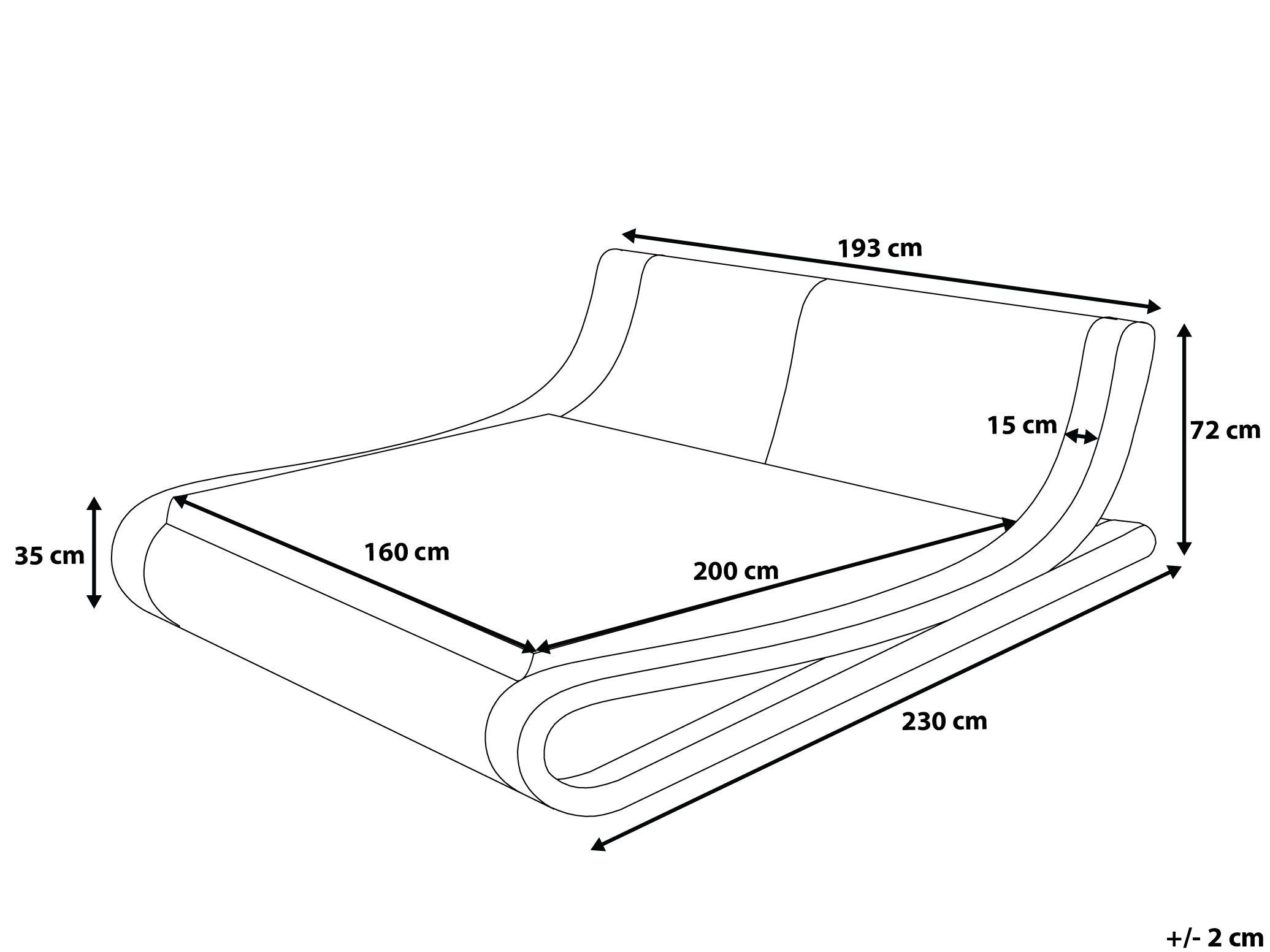 Lit 160x200 sommier Inclus Génial Lit Design En Cuir Lit Double or 160x200 Cm sommier Inclus