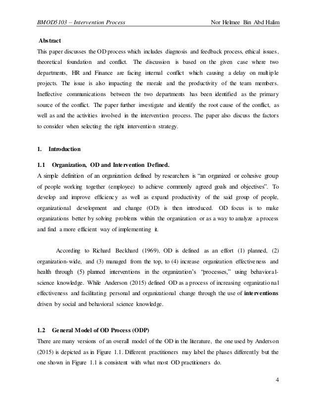 Lit 2 Ans Meilleur De organizational Development Od Intervention Process From A Case Stu…