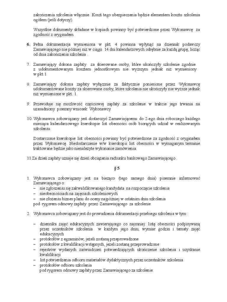 Lit 2 Ans Nouveau Załącznik Nr 2 Wz³r Umowy Pdf Treści
