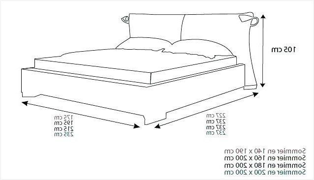 Lit 2 Personnes Dimensions Agréable Taille Matelas King Size Fres Spéciales Taille Standard Lit Y013