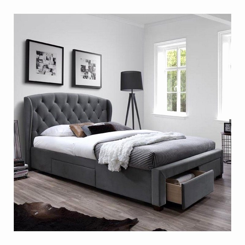 Lit 2 Places 160×200 Le Luxe Lit 160—200 Design Beau sommier Rangement Unique Matelas Redoute