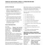 Lit 2 Places Ado Frais Pdf tobacco Use In Rural areas A Literature Review