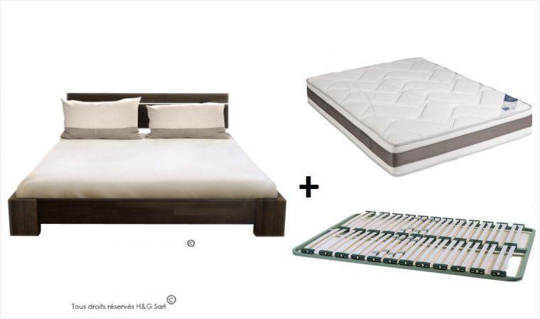 69 unique lit 2 places avec sommier et matelas graphiques. Black Bedroom Furniture Sets. Home Design Ideas