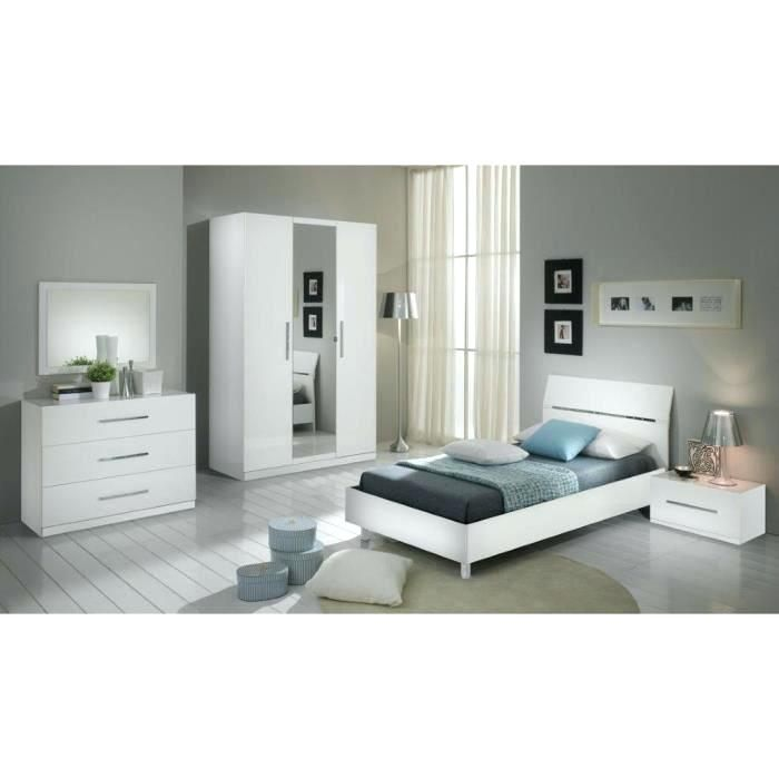 Lit 2 Places Blanc Charmant Lit 2 Places Blanc Laque Fly Lit Blanc Full Size Lit Blanc 90—190