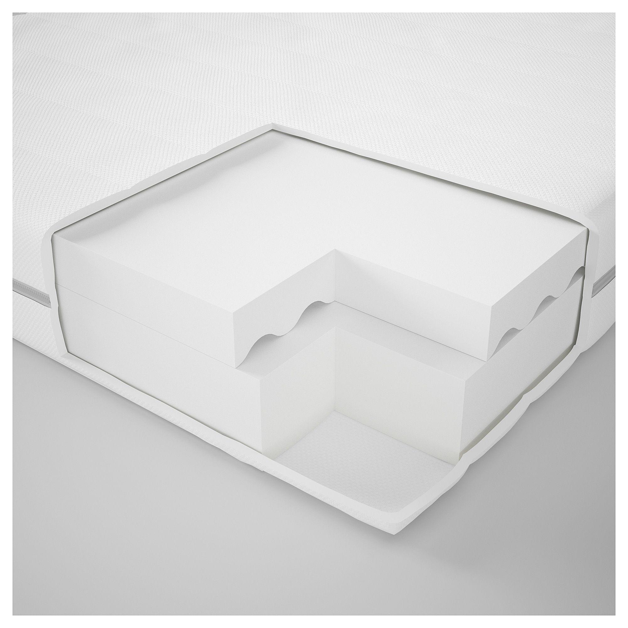 Lit 90×200 Avec Rangement Impressionnant Malfors Matelas En Mousse 90×200 Cm Ferme Blanc Ikea