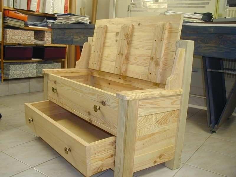 Table Basse Coffre Bois De Fabriquer Un Lit Coffre Banquette Coffre