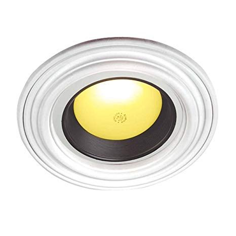 Lit A Deux Place Génial Recessed Spot Light Ring Trim Ceiling Medallion White Durable