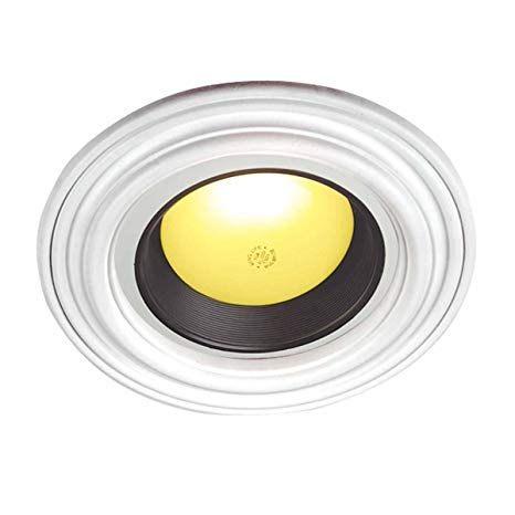 Lit A Deux Place Génial Recessed Spot Light Ring Trim Ceiling Medallion White Durable