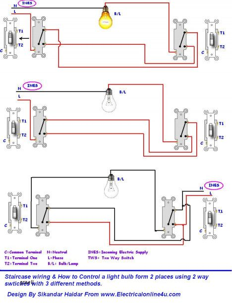 Light Bulb Wire Best 2 Lights 2 Switches Diagram Unique Wiring A