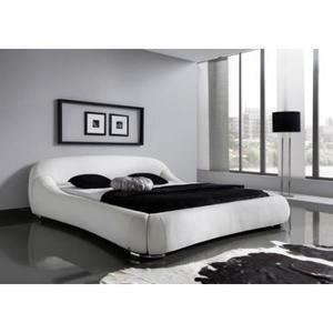 Lit Avec Rangement 180×200 Luxe Lit Design Rembourré Blanc Dave 180×200 Cm Achat Vente Structure