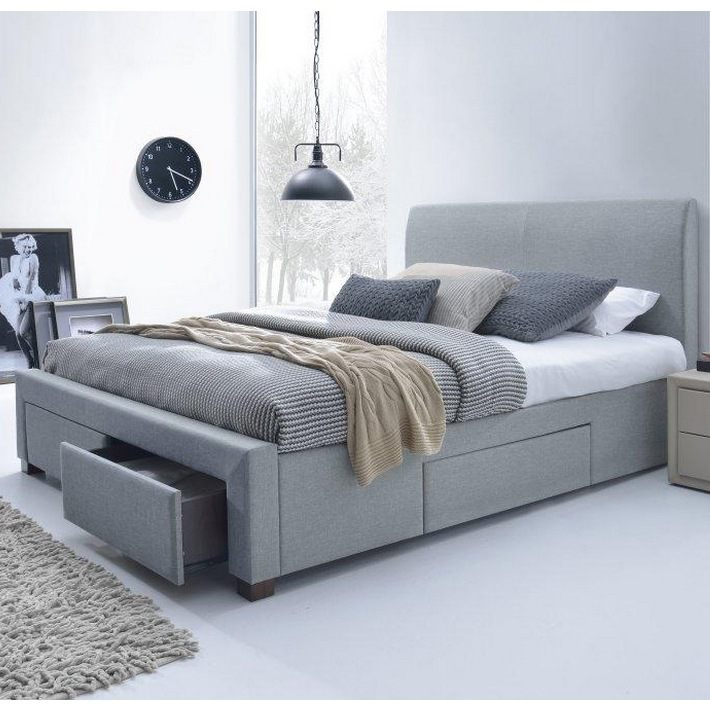 lit avec tiroir 160×200 Élégant lit 160×200 avec tiroirs rangement