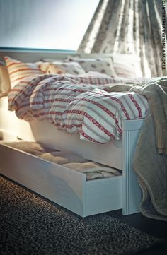 Lit Avec Tiroir Ikea Joli Brusali Bed Frame with 4 Storage Boxes White Luröy Standard King