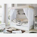 Lit Baldaquin 160x200 Belle Lit A Baldaquin Luxe Lit Baldaquin 160—200 En Pin Blanc Cassé Bedroom
