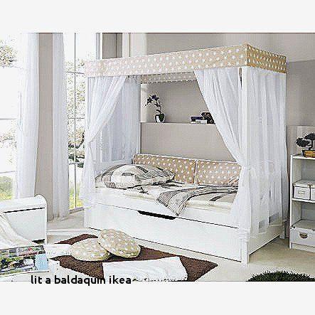 Lit Baldaquin 160×200 Belle Lit A Baldaquin Luxe Lit Baldaquin 160—200 En Pin Blanc Cassé Bedroom