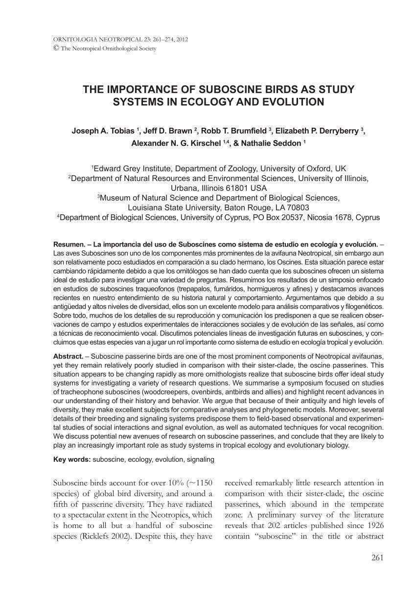 Lit Bébé 2 Ans Génial Pdf the Importance Of Suboscine Birds as Study Systems In Ecology