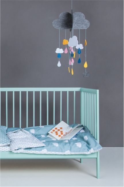 Lit Bebe 9 Le Luxe Mokee Mini Cot Stone Teal Colour Dream Nursery