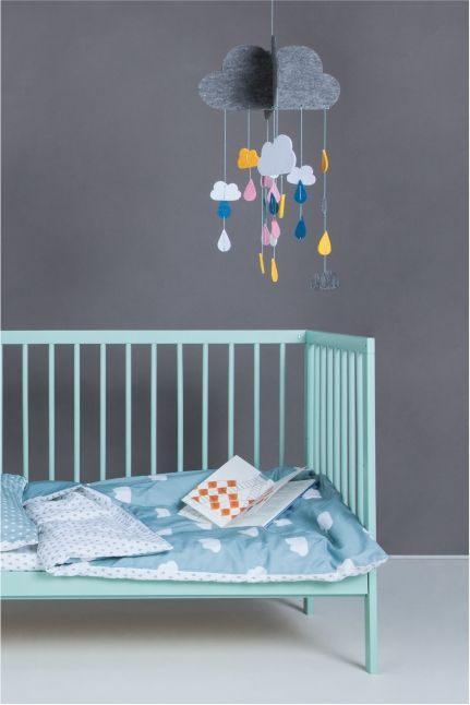 Lit Bebe 9 Le Luxe Mokee Mini Cot Stone Teal Colour Dream Nursery