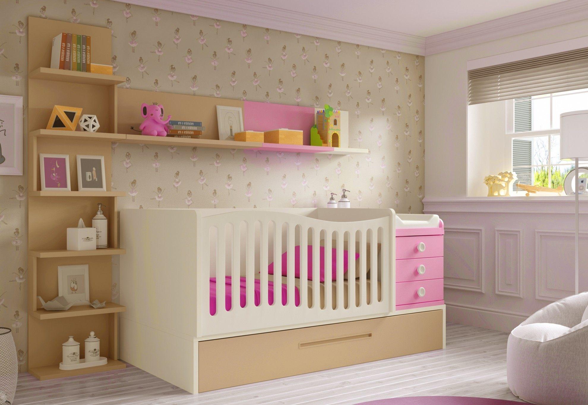 Lit Bébé Berceau Beau Lesmeubles Meuble Chambre Bébé — Lesmeubles