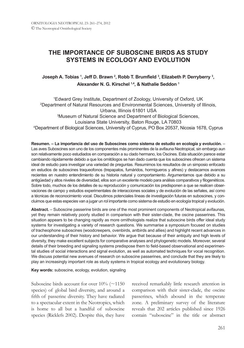 Lit Bébé Combiné Agréable Pdf the Importance Of Suboscine Birds as Study Systems In Ecology