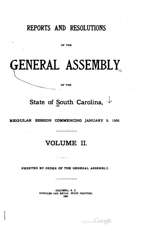 Lit Bébé Cora Frais Reports And Resolutions Of South Carolina To The