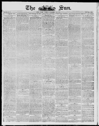 Lit Bébé D Appoint Belle the Sun New York [n Y ] 1833 1916 December 16 1873 Image 1