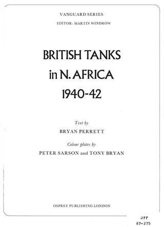 Lit Bébé D Appoint Joli Vanguard 23 British Tanks In north Africa 1940 1942 by El Mayor