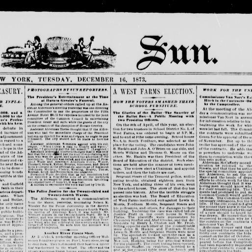Lit Bébé D Appoint Meilleur De the Sun New York [n Y ] 1833 1916 December 16 1873 Image 1