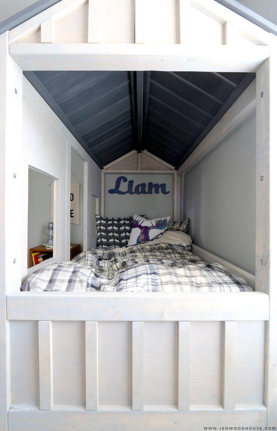 Lit Bebe Fait Maison Fraîche Ana White Build A Cabin Bed by Jen Woodhouse