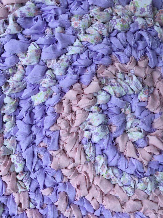"""34"""" violet et rose avec des fleurs tapis de chambre de bébé au"""