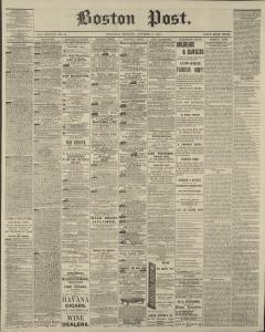 Lit Bébé Fly Belle Boston Post Newspaper Archives Oct 3 1874