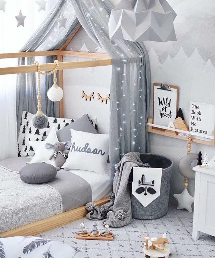 Lit Bebe Gris Belle Baby Bedroom Ideas Idée Décoration Pinterest